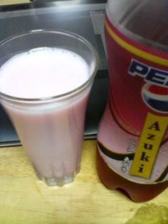 ペプシあずきミルク(-ω-)